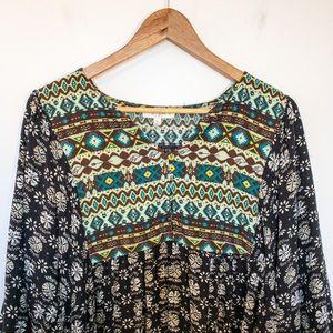 Umgee Women Size XL Tunic Southwestern Aztec Boho